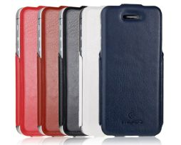 Flip obal IMUCA na iPhone 55S z umelej kože + fólia na displej (2)
