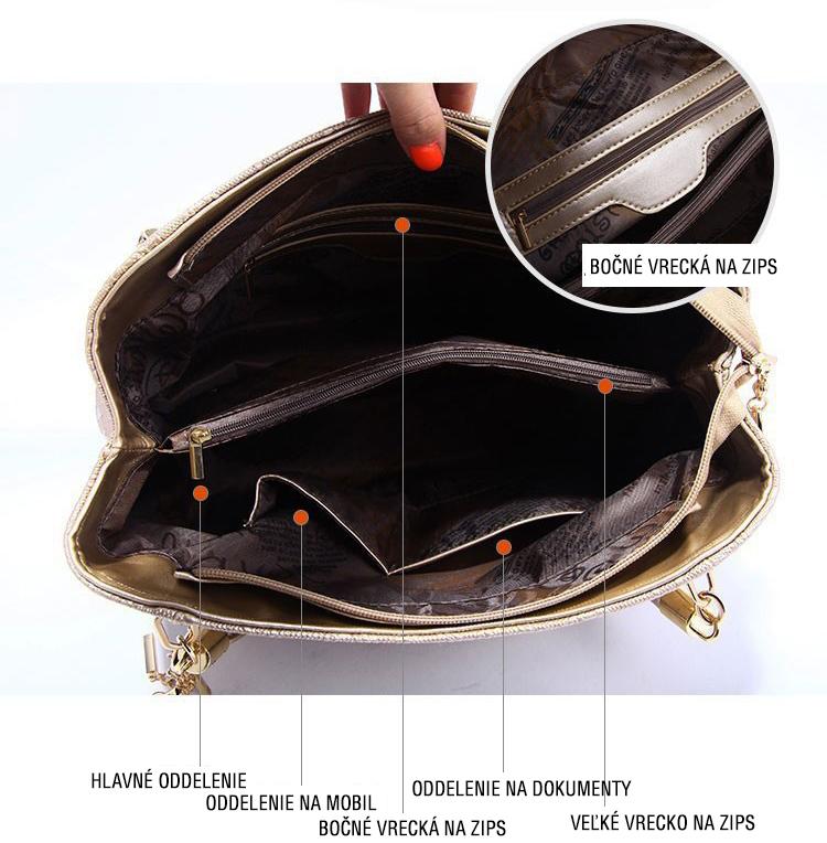 vnútorná časť kabelky