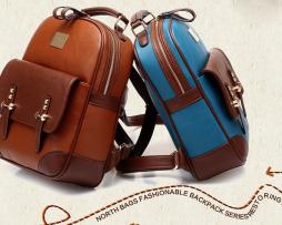 Kožený dámsky ruksak v elegantnom štýle vo farbách4