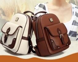 Kožený dámsky ruksak v elegantnom štýle vo farbách7