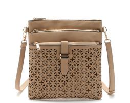 Dámska luxusná kožená taška s s uzatváraním (4)