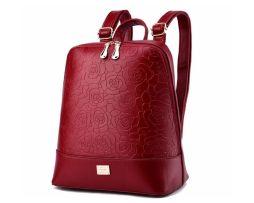 Dámsky dizajnový ruksak vyrobený z kože vo farbách (8)