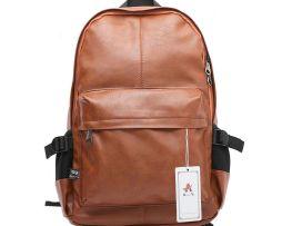 Pánsky módny ruksak z kože v rôznych farbách je vhodný pre pánov (2)