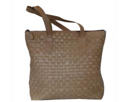 Exkluzívna tkaná kožená kabelka č. 8637 v bežovej farbe 97be7acce17