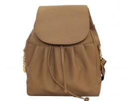 Dámsky kožený módny ruksak 8665u z prírodnej kože v hnedej farbe