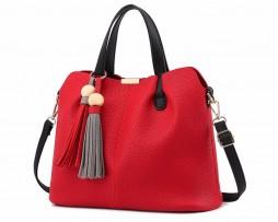 Luxusná kabelka v modernom štýle s dekoračnými strapcami vo farbách (2)