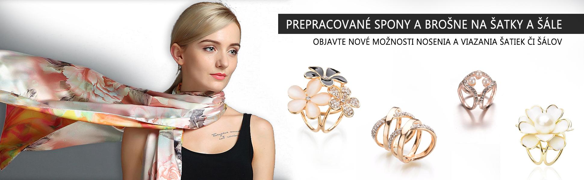 V našom online obchode nájdete luxusné brošne, spony, pracky a iné šperky používané k šatkám, šálom alebo ako ozdoby na dámske saká či oblečenie