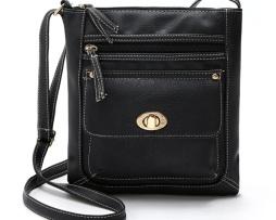 Dámska kožená taška cez rameno s nastaviteľným popruhom