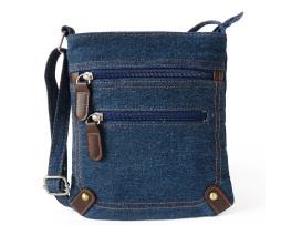 Dámska riflová taška v podobe jeansov so zipsom5