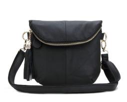 Dámska taška cez rameno z pravej hovädzej kože10