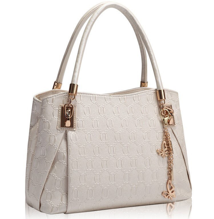 ce8d34c6db0f2 Luxusný dámsky set - kabelka, etuja a peňaženka v bielej farbe ...