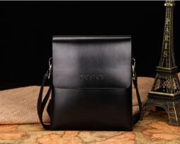 Kožená elegantná taška cez rameno POLO pre pánov (3)