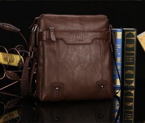 Kožená luxusná unisex taška cez rameno POLO (4)