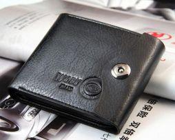Kožená multifunkčná peňaženka s vizitkárom v čiernej farbe (8)