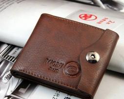 Kožená multifunkčná peňaženka s vizitkárom v hnedej farbe (3)