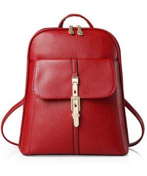 Kožený dámsky ruksak v modernom štýle vo farbách