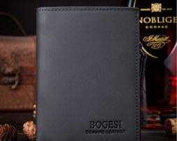 Kvalitná pánska kožená peňaženka BOGESI v čiernej farbe
