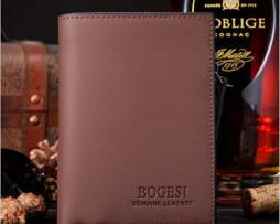 Kvalitná pánska kožená peňaženka BOGESI v hnedej farbe
