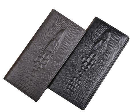 Luxusná pánska kožená peňaženka v štýle 3D krokodíla4
