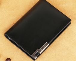 Luxusné púzdro na vizitky DANTE z pravej kože v čiernej farbe