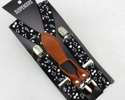 Unisex detské nastaviteľné traky s elastickým pásom, vzor 3