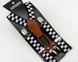 Unisex detské nastaviteľné traky s elastickým pásom, vzor 6