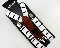 Unisex detské nastaviteľné traky s elastickým pásom, vzor 7