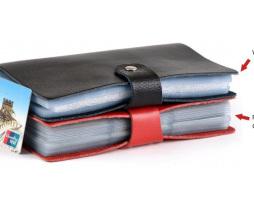 Unisex kožený vizitkár na 90 kariet pre podnikateľov 9