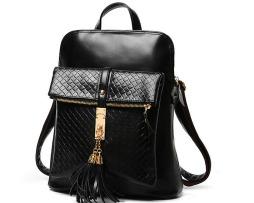 Kožený dámsky ruksak s ozdobným zámkom vo farbách4