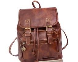 Kožený ruksak pre ženy s dvomi prackami vo farbách7