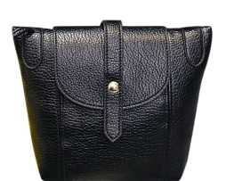 Dámska mini kožená taška cez rameno s magnetickým uzatváraním7