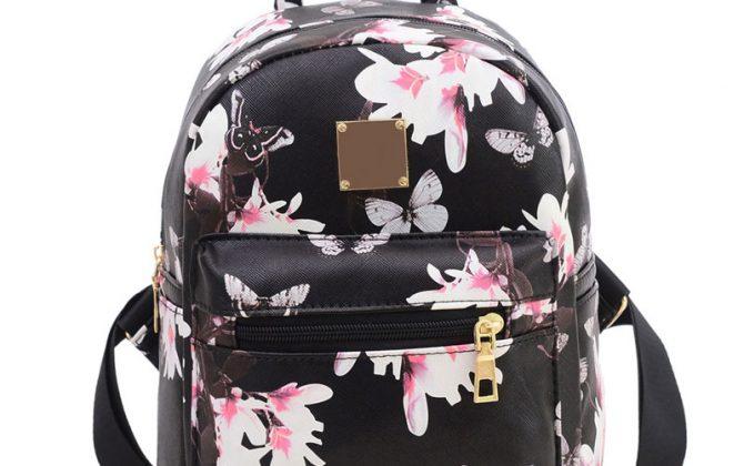 Dámsky kvetinový ruksak s potlačou v čiernej farbe  67054b9f99b