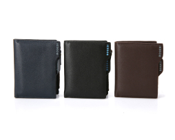 Multifunkčná kožená peňaženka BOGESI s púzdrom na mince5