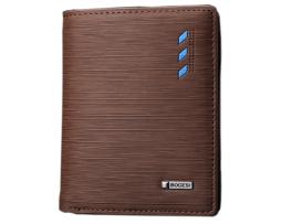 Štýlová kožená peňaženka BOGESI zo syntetickej kože, vertikálna2