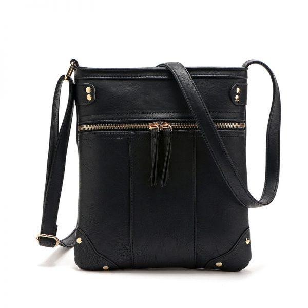 Dámska luxusná kožená taška s nastaviteľným popruhom