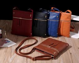Dámska luxusná kožená taška s nastaviteľným popruhom (7)