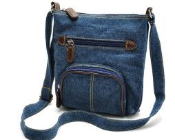 Dámska riflová taška so zipsom (2)