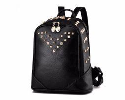 Dámsky moderný ruksak vyrobený z kože s vybíjaním (8)