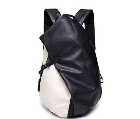 Unisex módny ruksak z kože v čiernej farbe je vhodný pre pánov aj dámy (1)