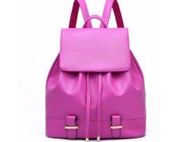 Dámsky cestovný ruksak vyrobený z kože vo farbách (3)