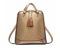 Elegantný dámsky ruksak vyrobený z kože s dekoračným zipsom (4)