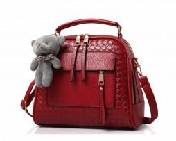 Kožená kvalitná kabelka v luxusnom štýle vo farbách (9)
