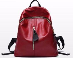 Nádherný kožený ruksak pre dámy vo farbách (3)
