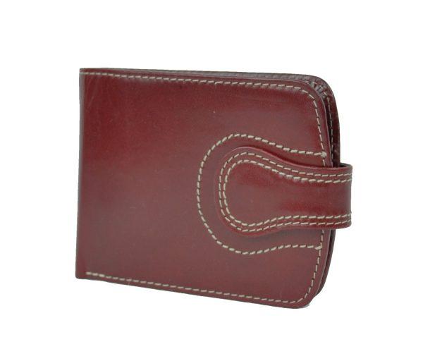 Elegantná kožená peňaženka č.8467 v červenej farbe (3)