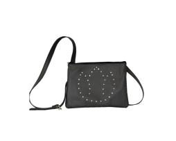Exkluzívna kožená mini kabelka č.8628 s rakúskymi kryštálmi v šedej farbe 8df86929326