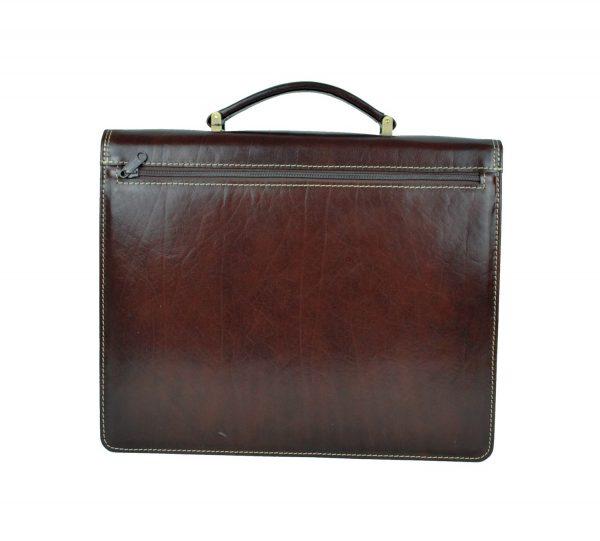 Kožená aktovka z pravej kože. Aktovka je plochá taška slúžiaca ako elegantné púzdro na uloženie rôznych spisov a dokumentov (3)