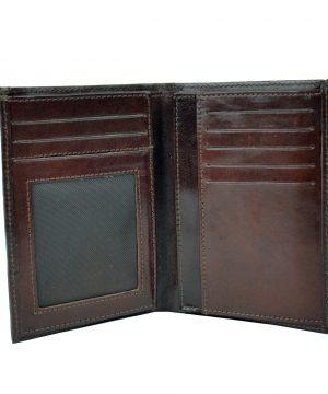 Luxusná kožená dokladovka č.8204 v tmavo hnedej farbe (2)