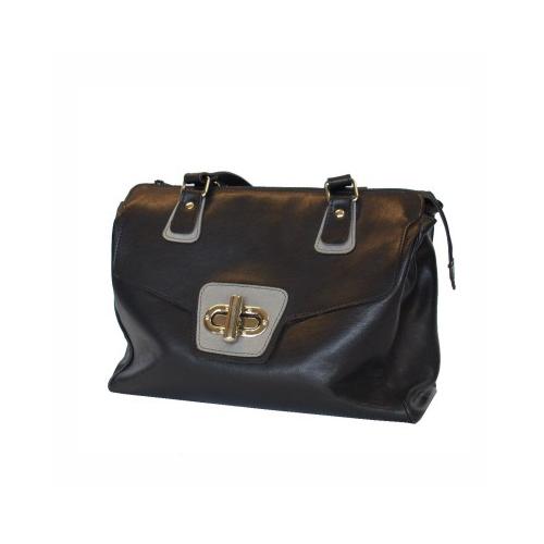 bcaf47659 Luxusná dámska kožená kabelka č.8578 v šedo čiernej farbe | Kožená ...