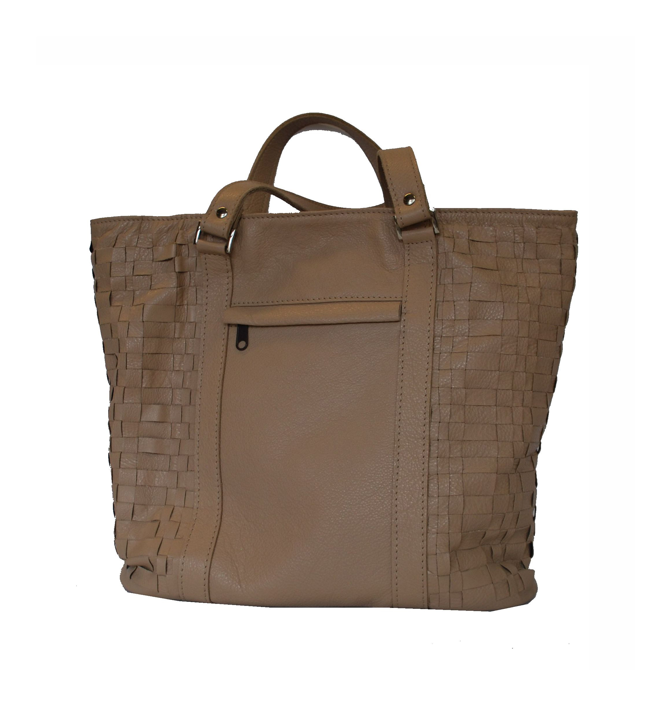 2f9891abde Elegantná tkaná kožená kabelka v čiernej farbe vyrobená z talianskej ...