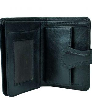 Moderná kožená peňaženka č.8462 v čiernej farbe (3)